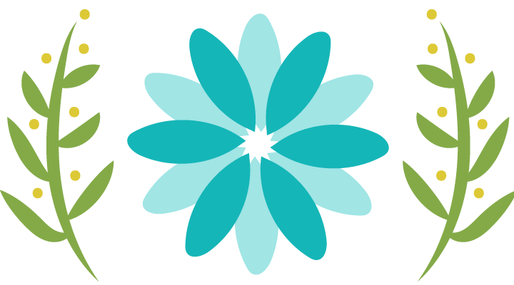 blue illustrated flower