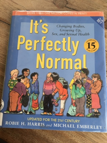 """Cover of the book """"It's Perfectly Normal"""" by R Harris and M Emberley"""