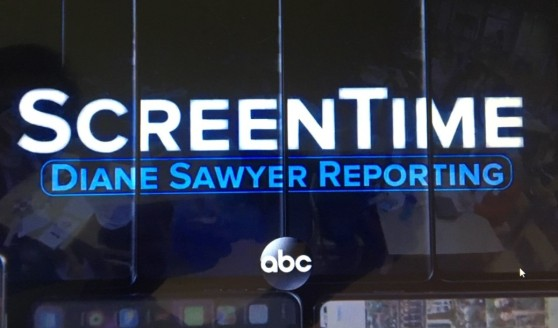Screen shot of web site featuring ABC's special report on Screen Time